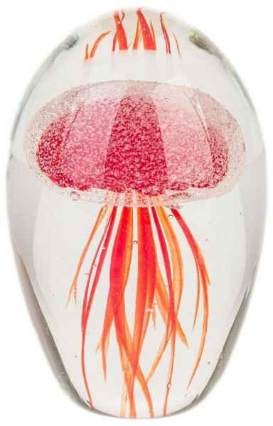 Briefbeschwerer Paperweight Qualle Glasfigur Glas im Murano Antik-Stil - 12cm