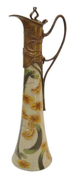 Krug Kanne Wein Blume Skulptur Porzellan Antik-Stil 40cm