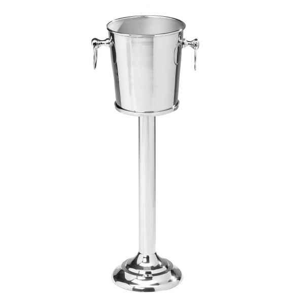 Sektkühler mit Ständer Weinkühler Flaschenkühler Sektkübel vernickelt 72cm hoch