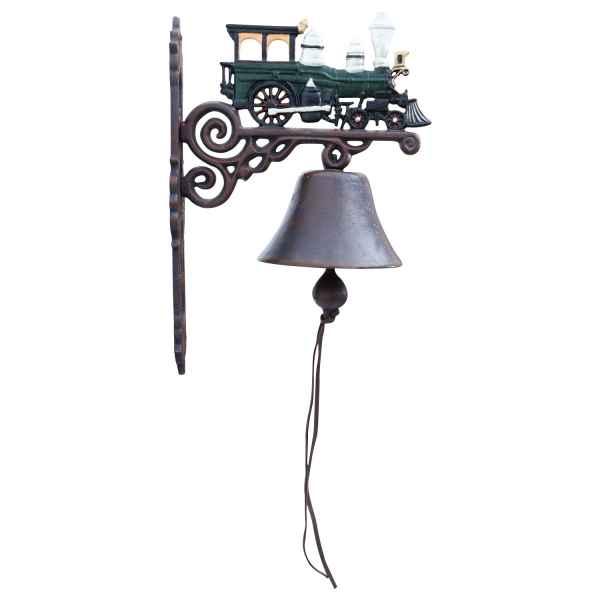 Wandglocke Türglocke Glocke Gusseisen Zug Dekoration Eisen Antik-Stil 40cm