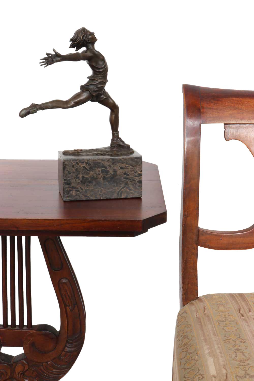 Statuette en bronze coureur style antique statue athlétisme 28cm