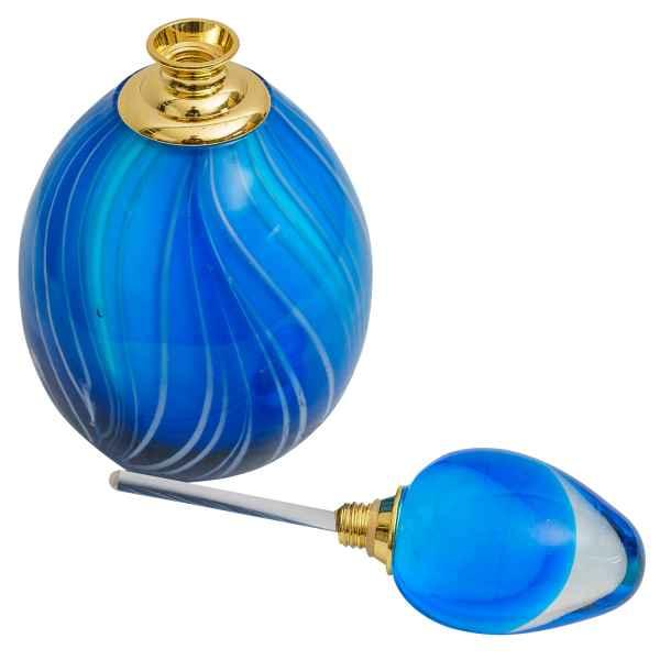 Geschliffener Glas Flakon im antik Stil Parfum Parfumflakon Flacon 14cm