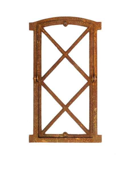 Window Frame In An Antique Style Cast Iron With Rust 38x76cm