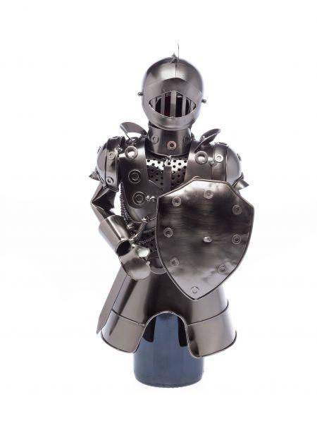 Flaschenhalter Ritter mit Schild Flasche Weinhalter Weinständer Wein Mittelalter