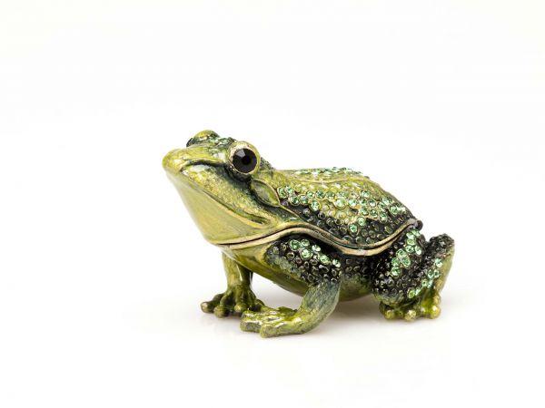 Frosch Pillendose Schmuckdose Dose Pillenbox Box Dose Pille Schmuck Figur Frog
