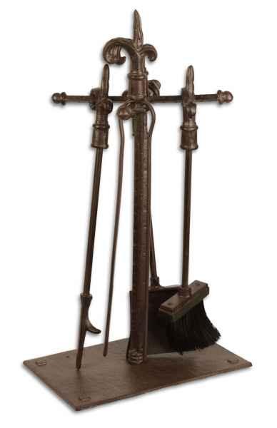 Kaminbesteck 5-teilig Kamingarnitur Kaminset Kaminwerkzeug Eisen Antik-Stil 52cm
