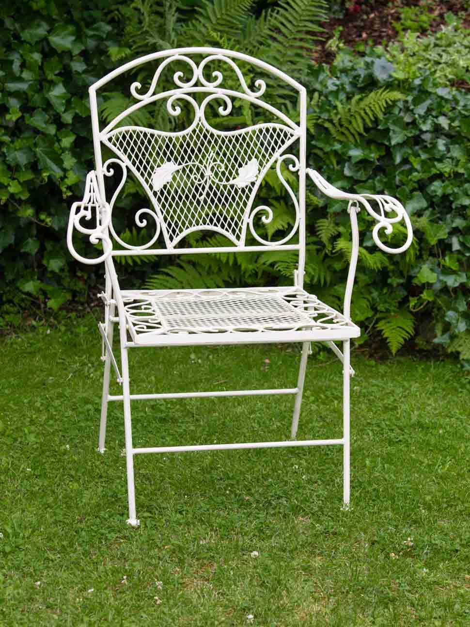 Nostalgie jardin fauteuil fer 15kg chaise de jardin fauteuil chaise antique style chair Iron