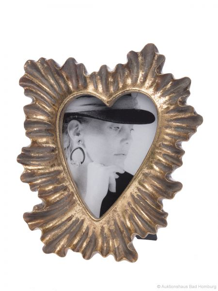 Fotorahmen antik Stil Liebe Herz Foto Rahmen 13 x 18 cm Farbe gold Höhe 27cm