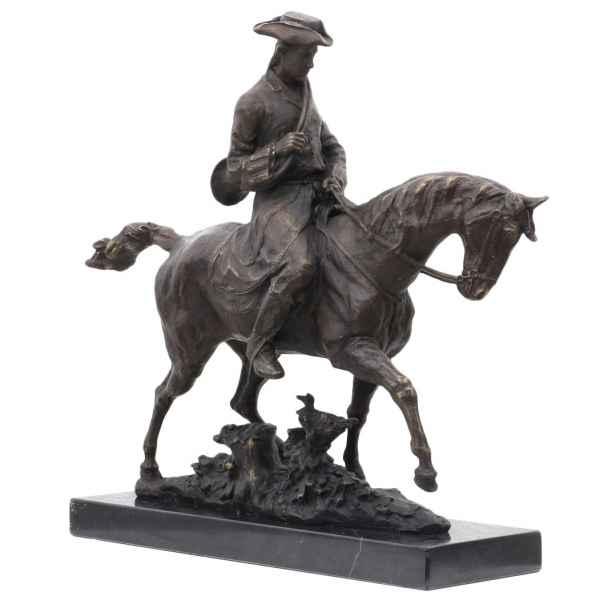 Bronzeskulptur Louis XV Pferd im Antik-Stil Bronze Figur Statue 41cm