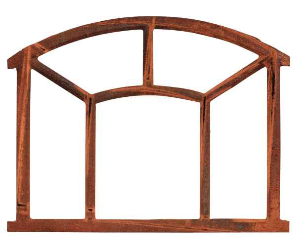 Nostalgie Stallfenster 48x62,5cm Fenster Eisen Rahmen rostig Antik-Stil iron