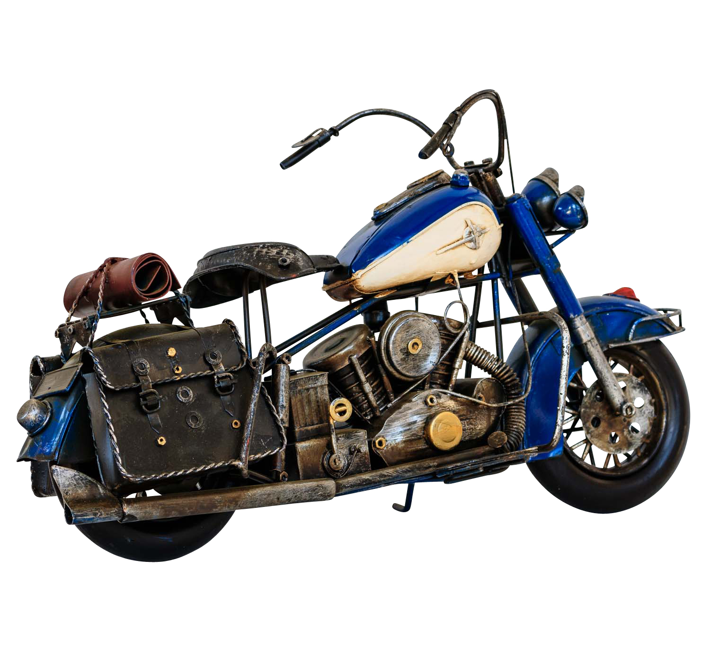 Blechmodell Motorrad Blechmotorrad Antik-Stil Eisen 28x12 cm