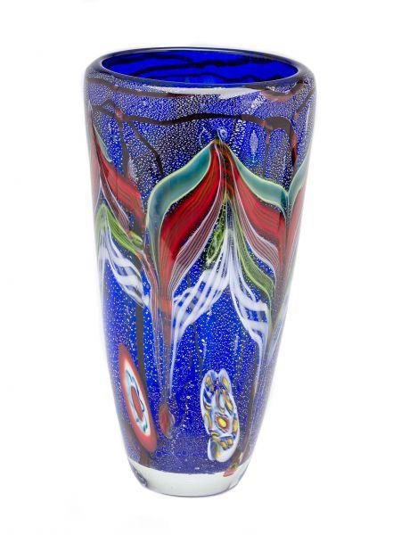 Glasvase Glas Vase im Italien Murano antik Stil 30cm schwere Tischvase 4kg glass