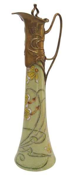 Krug Kanne Wein Rotwein Blume Skulptur Porzellan Antik-Stil 40cm