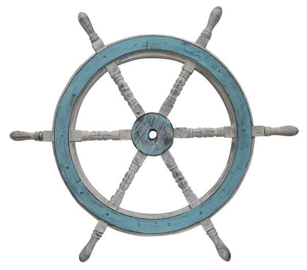 Schiffssteuerrad Schiffsrad Steuerrad Schiff Schiffe Boot 77cm Holz Antik-Stil