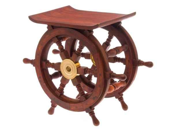Hocker Tisch Schiff Boot Steuerrad Schiffsteuerrad Beistelltisch Regal Holz