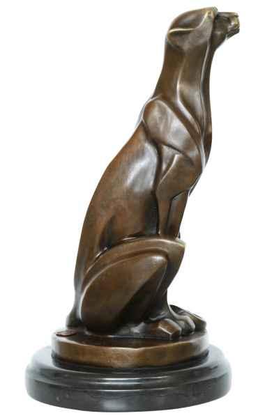 Bronzeskulptur Gepard im Antik-Stil Bronze Figur Statue - 29,7cm