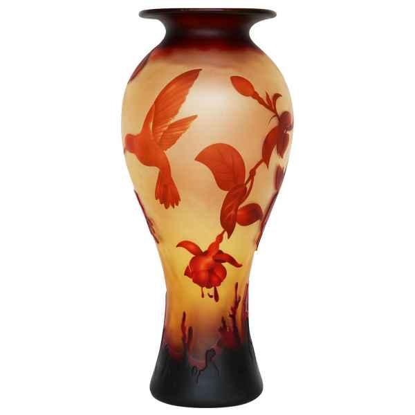 Vase Replika nach Galle Gallé Glasvase Glas Antik-Jugendstil-Stil Kopie g