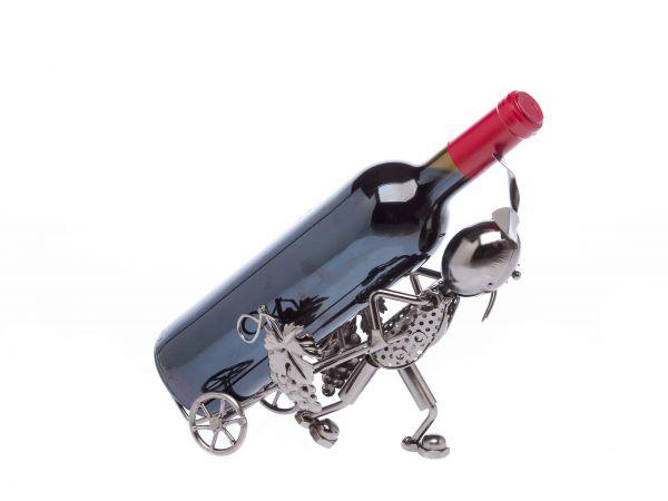 Flaschenhalter Hase Flasche Weinhalter Weinständer Wein Kaninchen wine hare