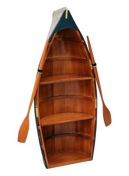 Regal Boot Holz Bootsregal Schiff Maritim Dekoration Schrank 90cm wooden rack