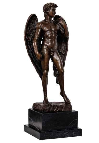 Bronzeskulptur Engel David im Antik-Stil Bronze Figur Statue 40cm