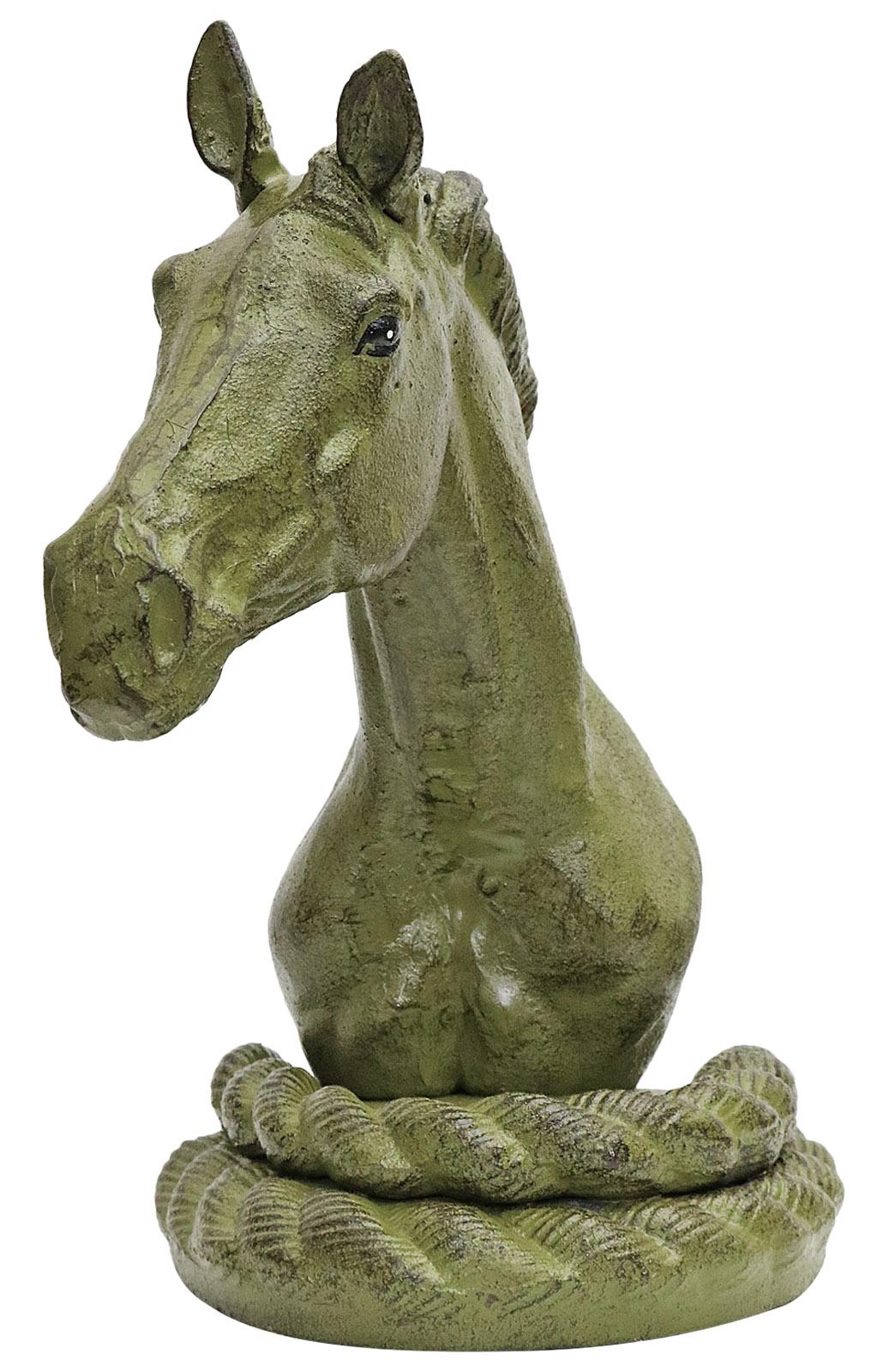 2 Buchstützen Buchständer Pferd Statue Figur Skulptur Eisen 24,5cm Antik-Stil