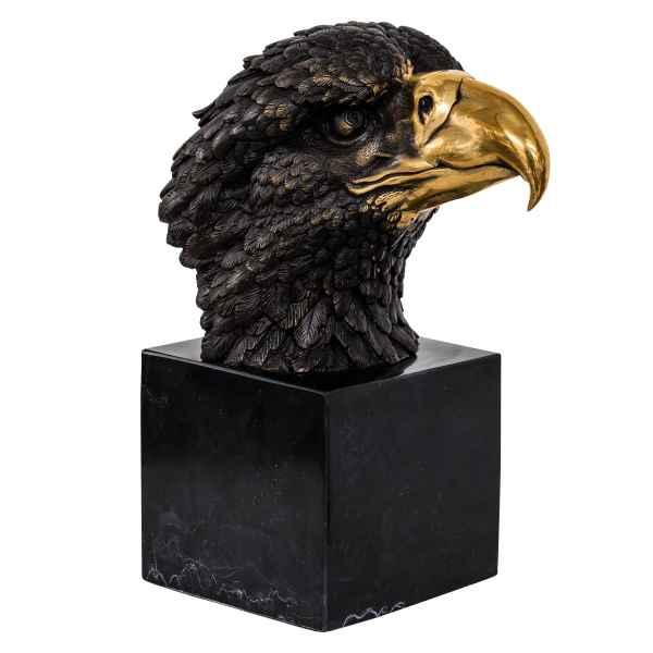 Bronzeskulptur Adler Büste Bronze Figur Statue im Antik-Stil 23cm