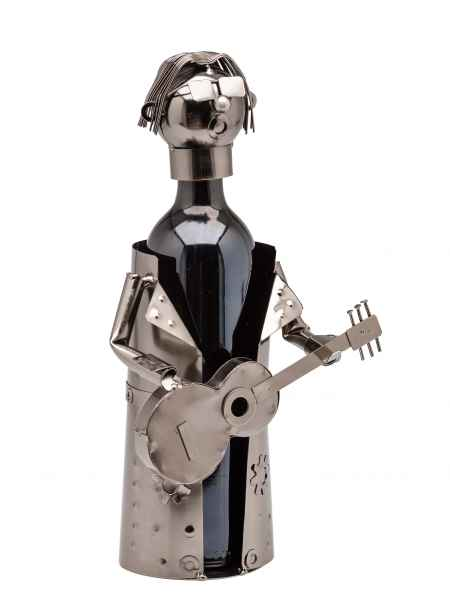 Flaschenständer Musiker Gitarre Gitarrist Flaschenhalter Weinständer Flasche