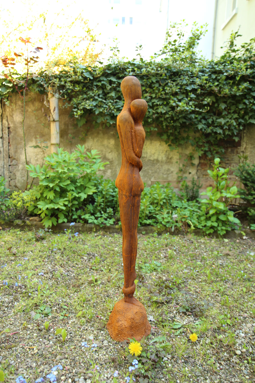 Eisen Skulptur Statue Liebe Paar moderne Garten 98cm