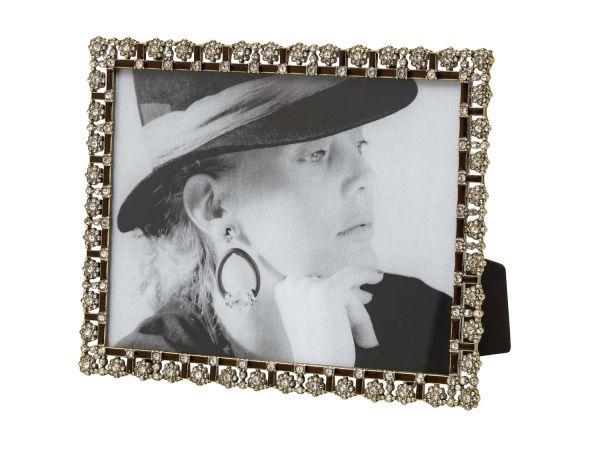Fotorahmen im antik Stil Hochformat Querformat Hartzinn Emaille Foto 15 x 20 cm