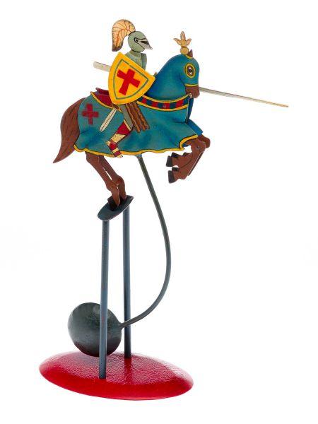 Balancefigur Ritter Pferd Balance Blechspielzeug Pendelfigur Figur knight