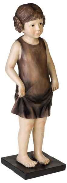 XXL Skulptur Mädchen Figur Kind Puppe Statue Antik-Stil - 61cm