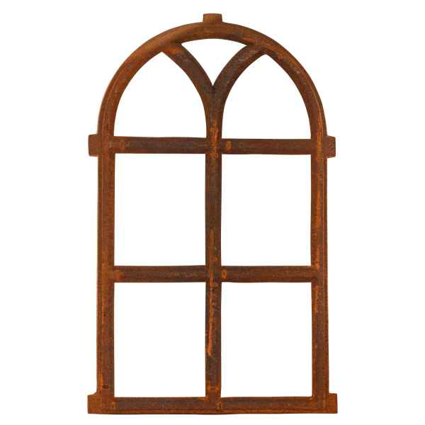 Barn Window Frame In An Antique Style Cast Iron With Rust 68x40cm