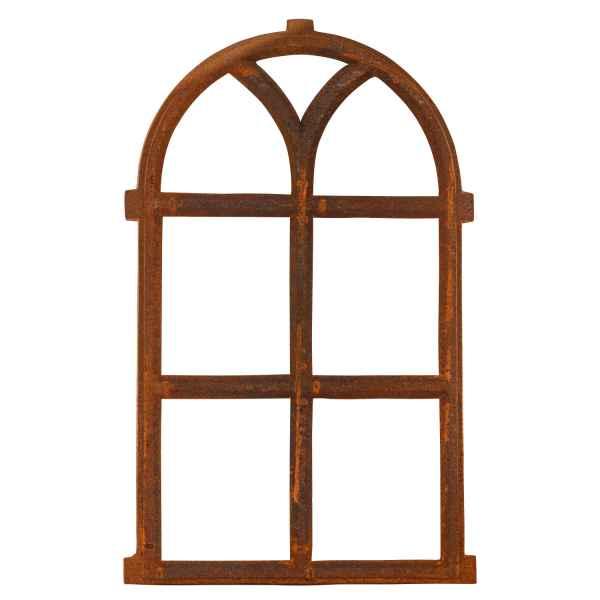 Nostalgie Stallfenster 69x43cm Fenster Gusseisen Rahmen rostig antik Stil