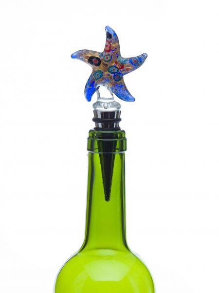 Flaschenverschluss Glasverschluss Glaskorken Stern Murano Stil bottle stopper