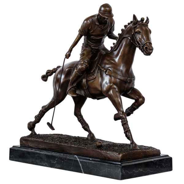 Bronzeskulptur Polo Spieler im Antik-Stil Bronze Figur Statue 33cm