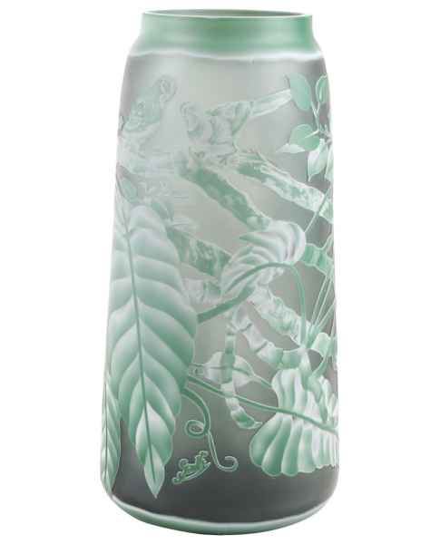 Vase Replika nach Galle Gallé Glasvase Glas Antik-Jugendstil-Stil Kopie c4