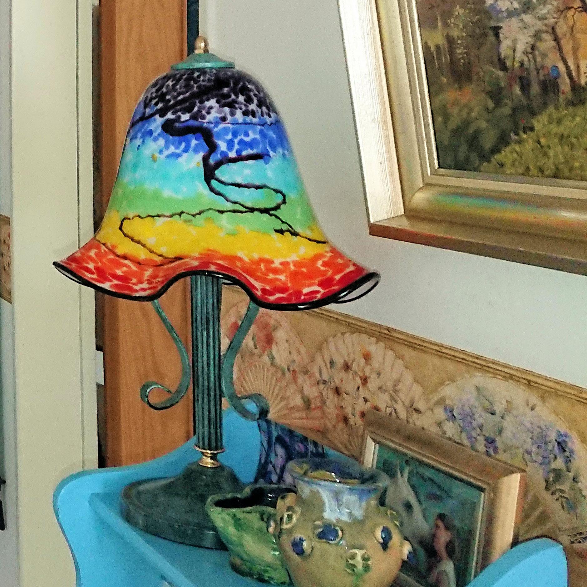 Herzlichen Dank liebe Frau Brenda, für das tolle Foto unseres Lampenschirms. Einen passenden Lampenfuss hatten Sie ja bereits.