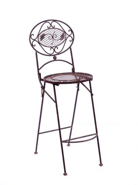 Barhocker Bar Stuhl Gartenstuhl Klappstuhl antik Stil garden chair furniture