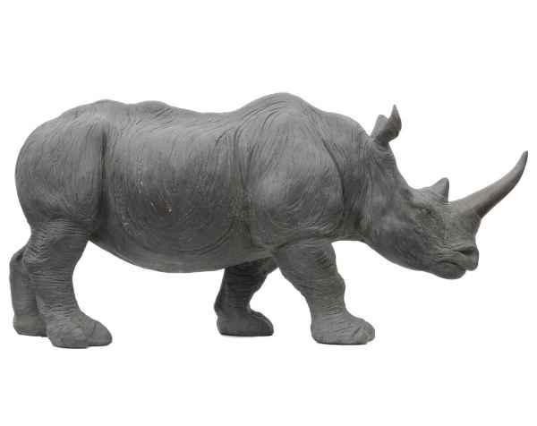 Statuette rhinocéros décoration jardin style antique 55cm