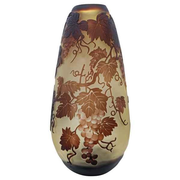 Vase Replika nach Galle Gallé Glasvase Glas Antik-Jugendstil-Stil Kopie c12