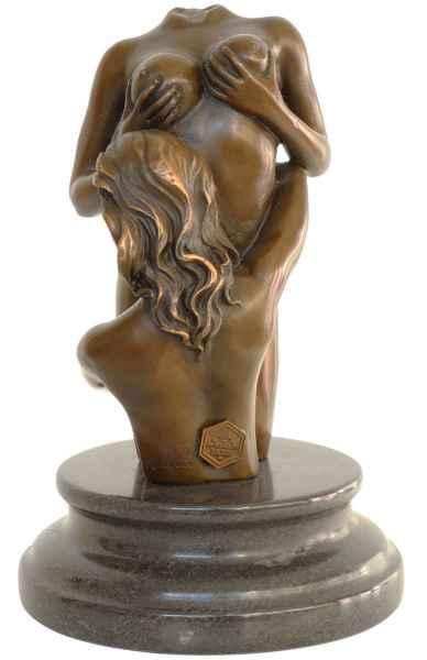 Bronzeskulptur Frau Akt Erotik Antik-Stil Bronze Figur Statue - 18cm