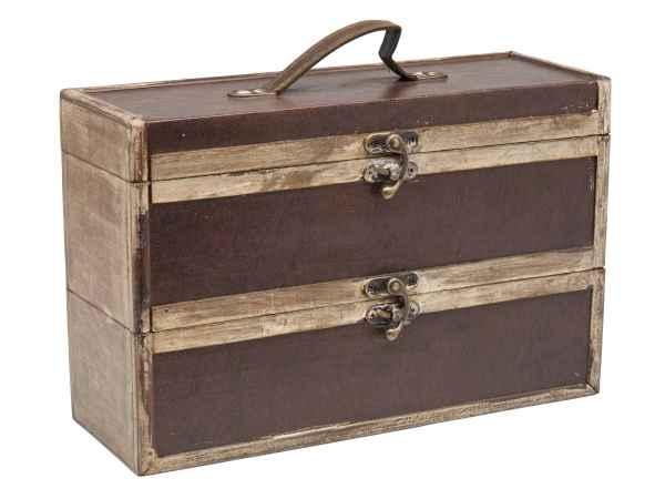 Weinbox Box Weinkiste Weintruhe Wine Holz antik Stil Geschenkverpackung winery