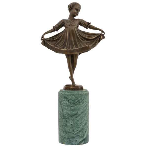 Bronze Skulptur nach Ferdinand Preiss (1882-1943) Kopie Lilli Art-Deco-Style