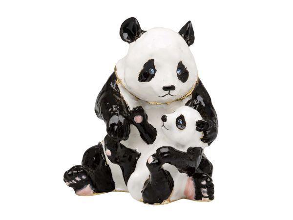 Panda Bär Pillendose Schmuckdose Dose Pillenbox Box Dose Pille Figur Schatulle