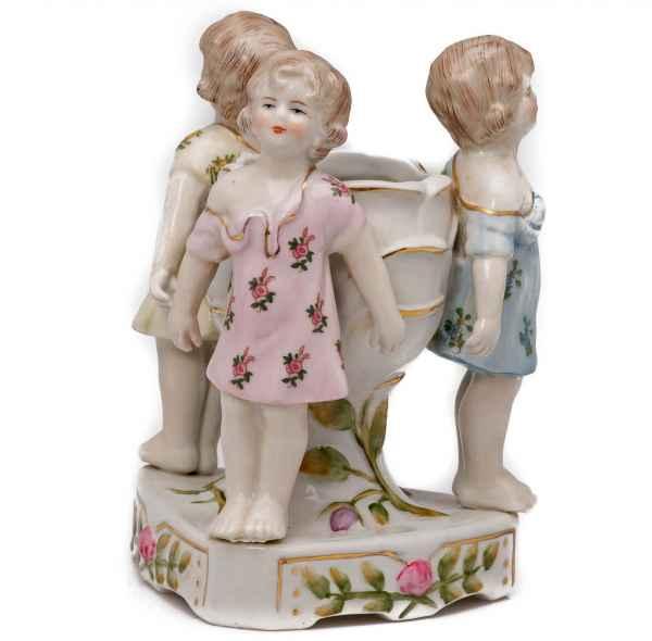 Porzellan Schale Vase Anbietschale Kinder antik Stil Kerzen Leuchter