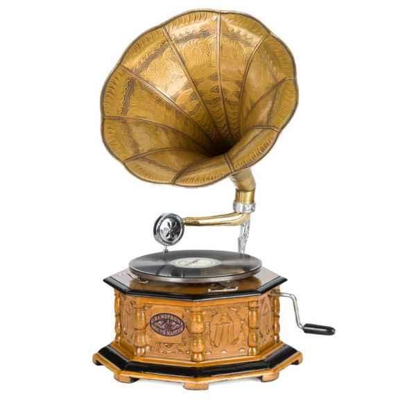 Grammophon im antiken Stil