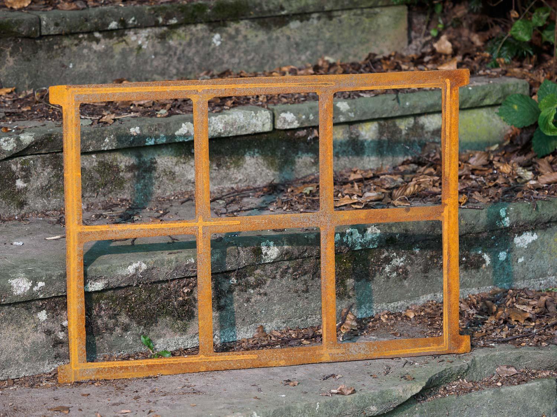 Fenêtre ornementale de grange style antique fonte//rouille 68x49cm