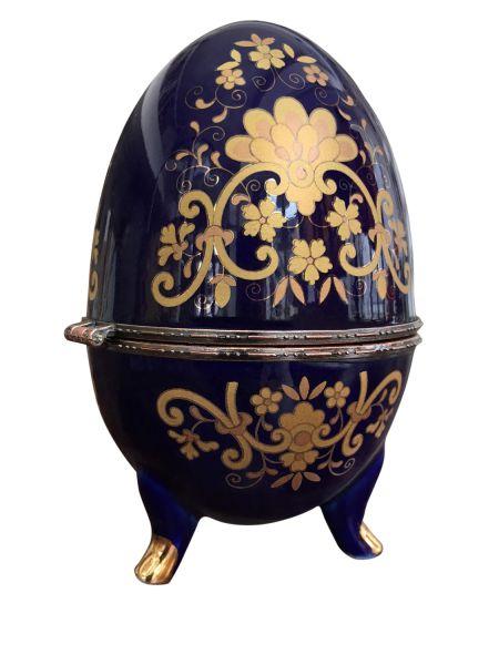 XL Porzellan Ei Dose Schmuckdose Osterei Porzellanei Schmuckei antik Stil egg