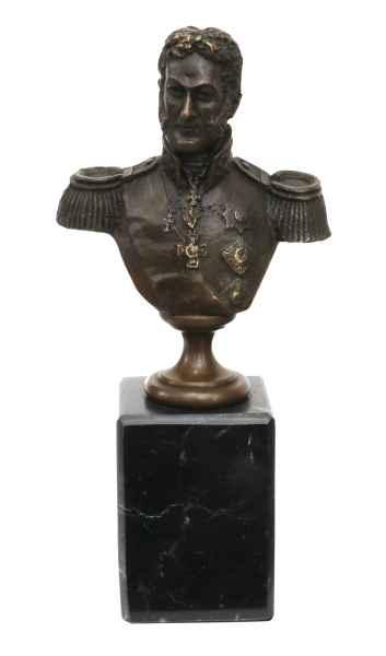 Bronzeskulptur Büste General Bagration Antik-Stil Bronze Figur Statue