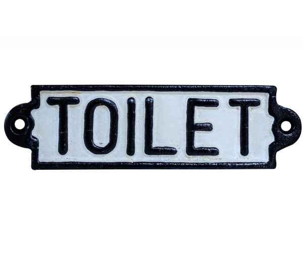 Nostalgie Türschild Schild Toilet Toilette Gäste WC 16cm Eisen Antik-Stil